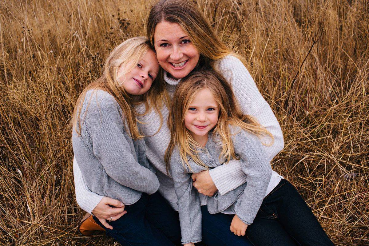 Sarah Cotton with her daughters Chloe (left) and Aubrey Berry (right) taken in October 2017. A Victoria court found their father Andrew Berry guilty in the second degree of their murder in December 2017. (Photo Ryan MacDonald Photography)